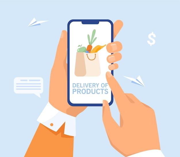 Customer shopping online via mobile phone