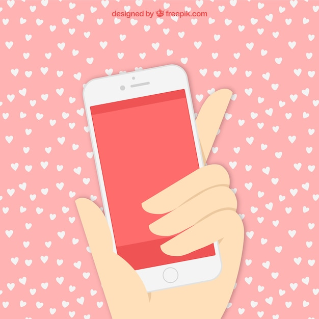 Hand with mobile phone Vector | Free Download
