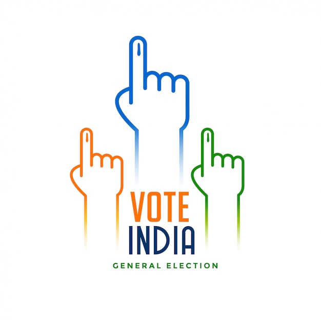 Hand with voting sign for election Free Vector