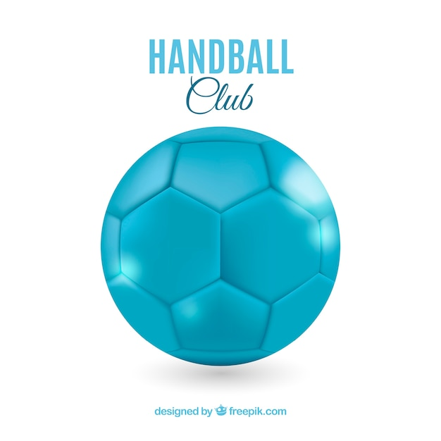 Handball ball in realistic style Free Vector