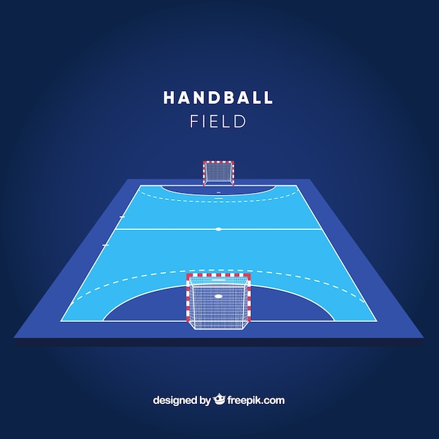 Handball field with perspective Free Vector