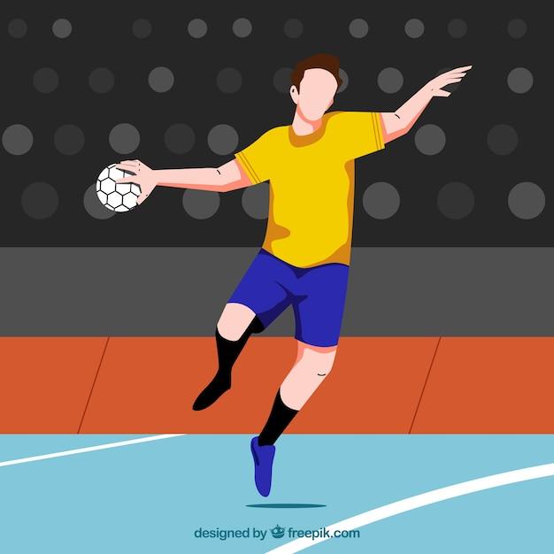 Handball player background Free Vector