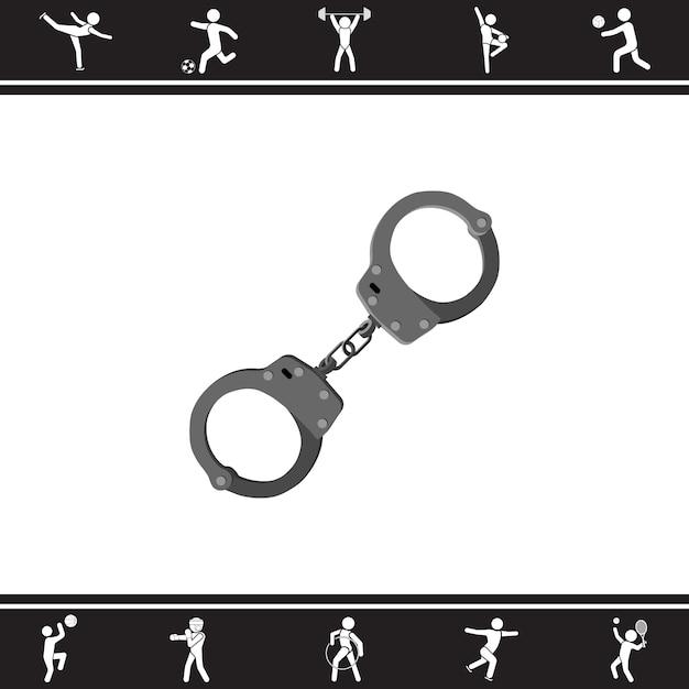 Handcuffs. vector illustration Premium Vector