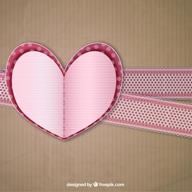 Handicraft Heart Background Free Vector