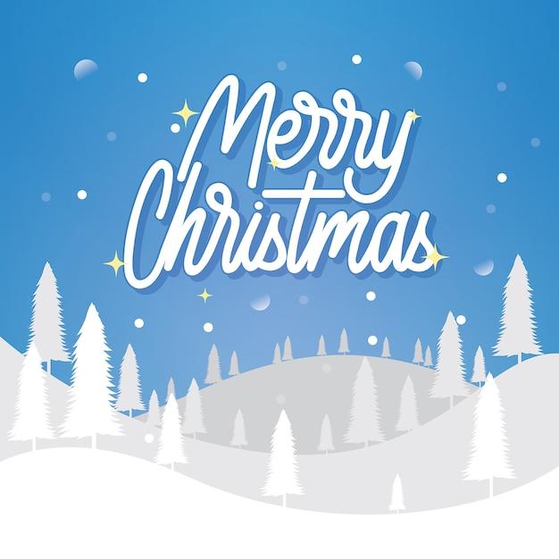 メリークリスマスhandlletteringポスターデザイン Premiumベクター