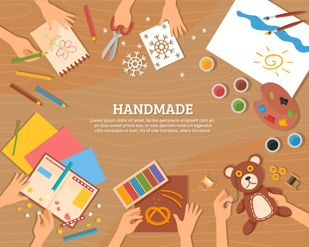 Handmade concept in flat style Free Vector