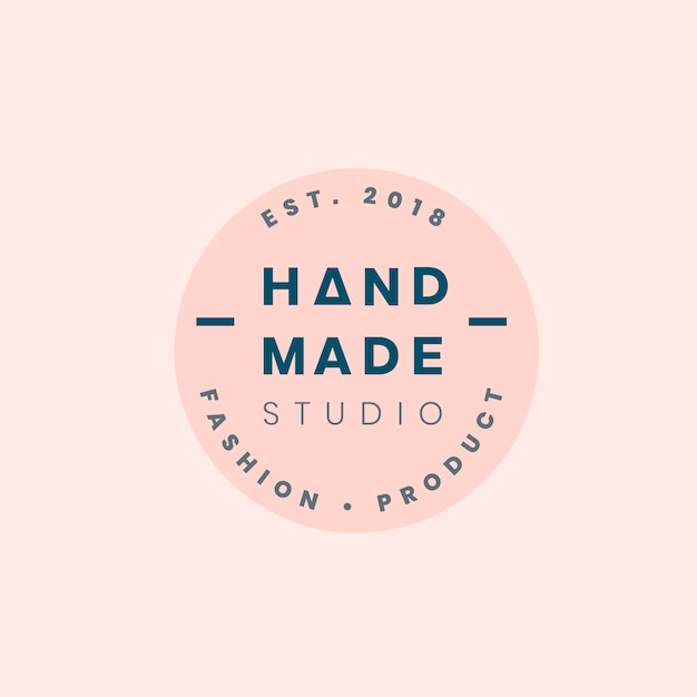 Handmade crafts logo badge design Free Vector