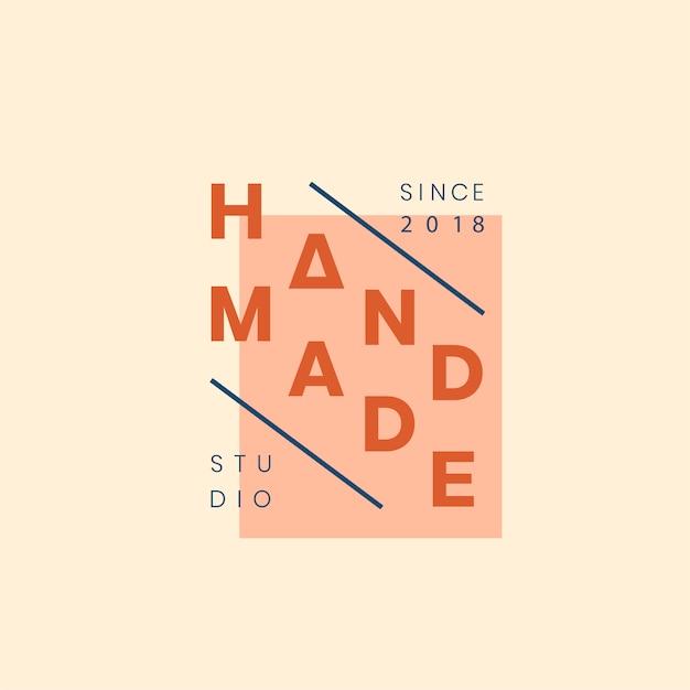 Handmade crafts logo badge design Free Vector