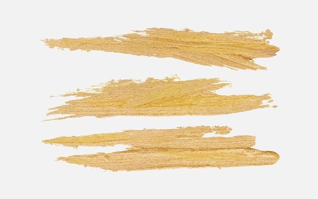 수제 황금 붓놀림 페인트 무료 벡터