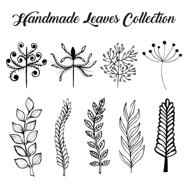 Handmade leaves collection