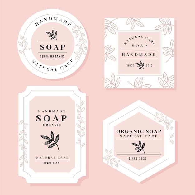 Handmade soap label collection Premium Vector