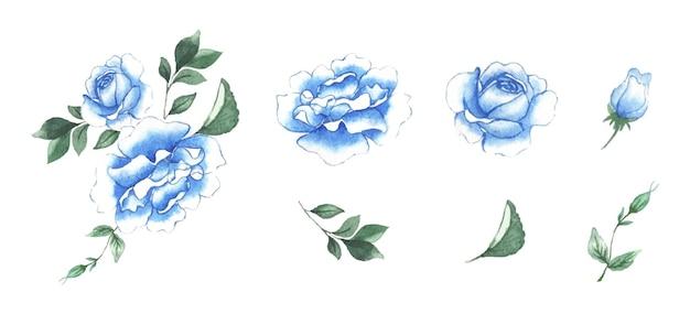 Arte floreale dell'acquerello fatto a mano Vettore gratuito