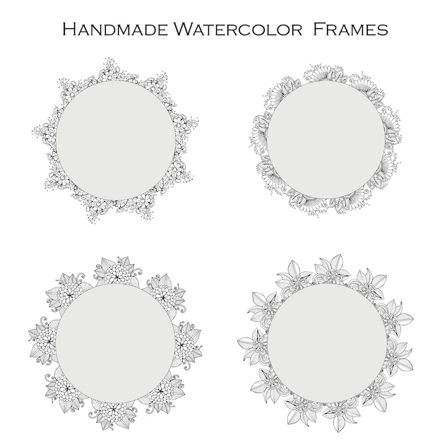 Handmade watercolor frames