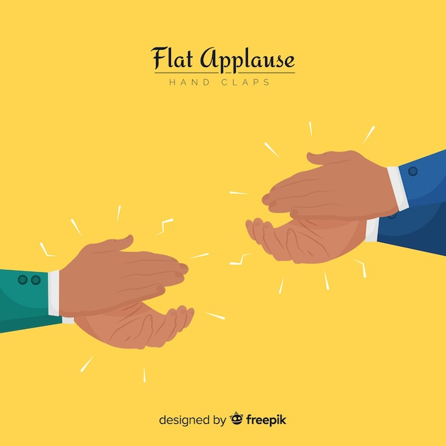 Hands clapping Free Vector