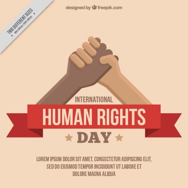 Hands clasped, human rights day