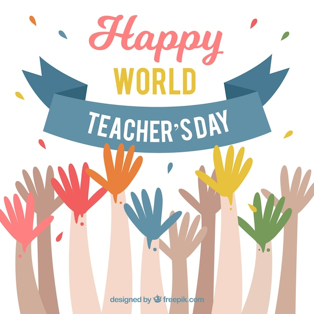 Hands for world teachers ' day
