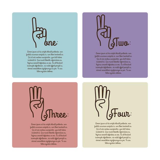 Hands gesture Premium Vector
