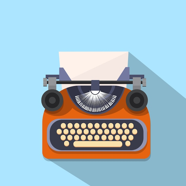 Hands typing text writer Premium Vector