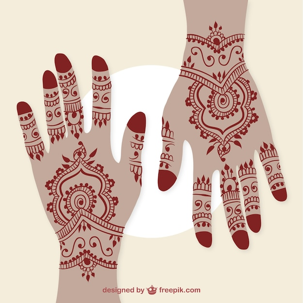 Mehndi Hands Clipart : Hands henna vectors photos and psd files free download