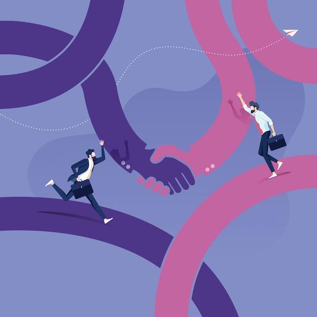 Handshake to succeedsymbol of a successful agreement Premium Vector