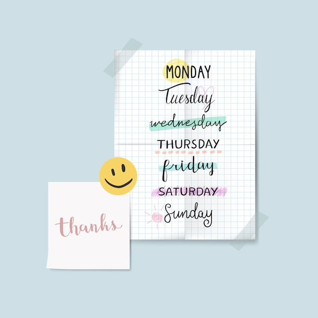 Handwriting on notes Free Vector