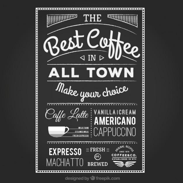 Handwritten coffee poster Premium Vector