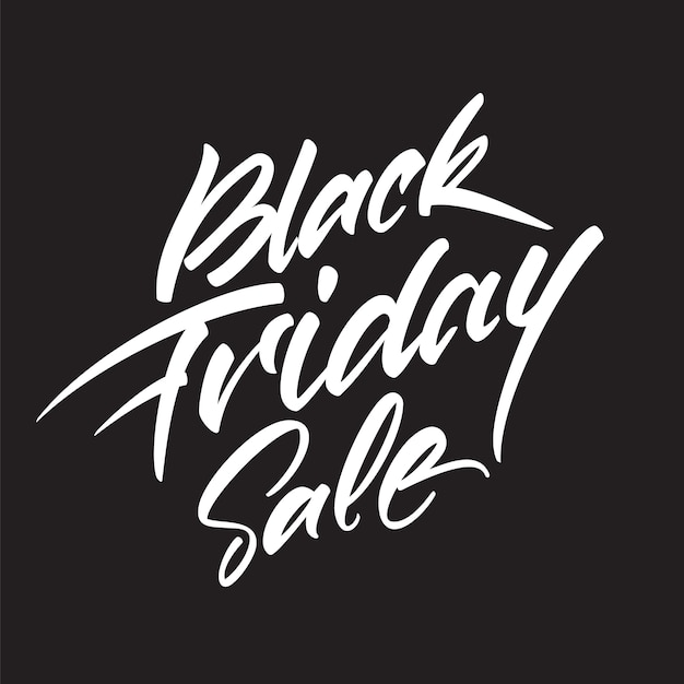 Handwritten lettering composition of black friday sale Premium Vector