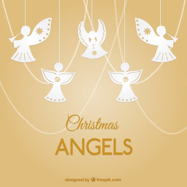 Hanging angels Free Vector