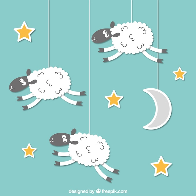 Hanging sheeps Free Vector