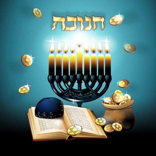 Hanukkah background design