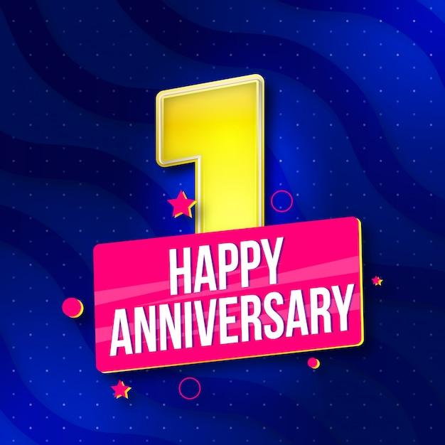 premium vector happy 1st anniversary background https www freepik com profile preagreement getstarted 4110111