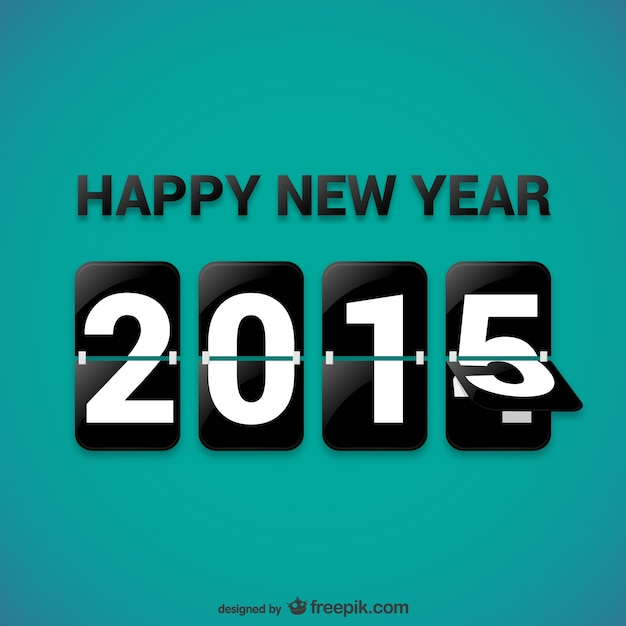 Happy 2015 background Free Vector