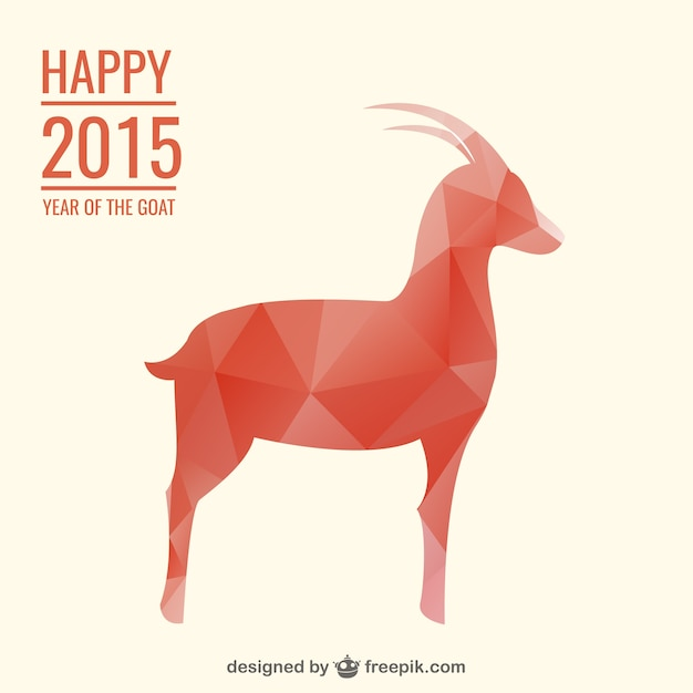 Happy 2015 year of the goat Free Vector