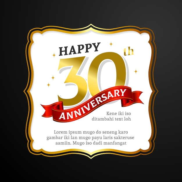 Premium 30th Wedding Anniversary Greeting Card