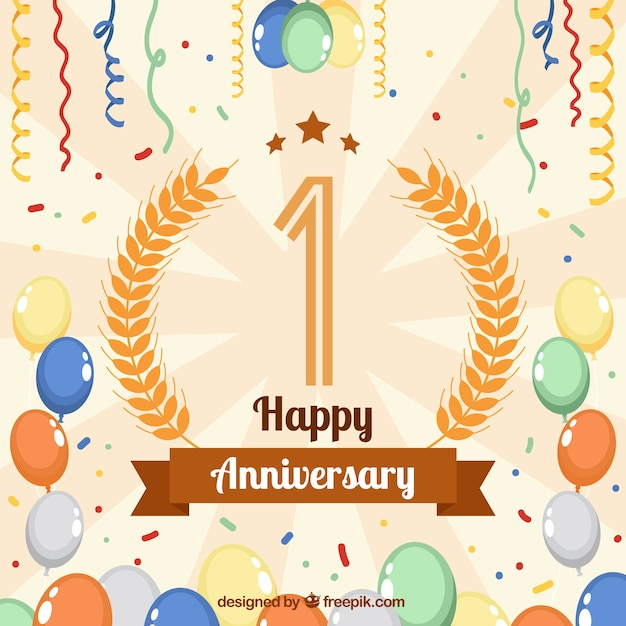 happy anniversary background vector free download