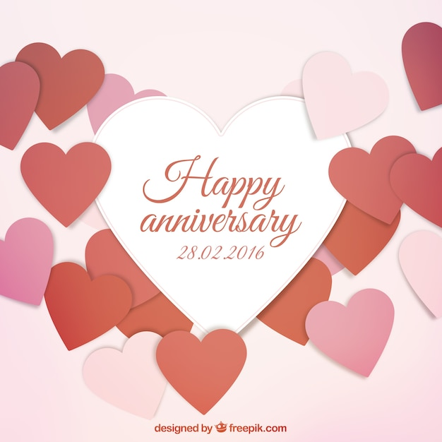 Nice Happy Anniversary Card Free Vector  Anniversary Card Free