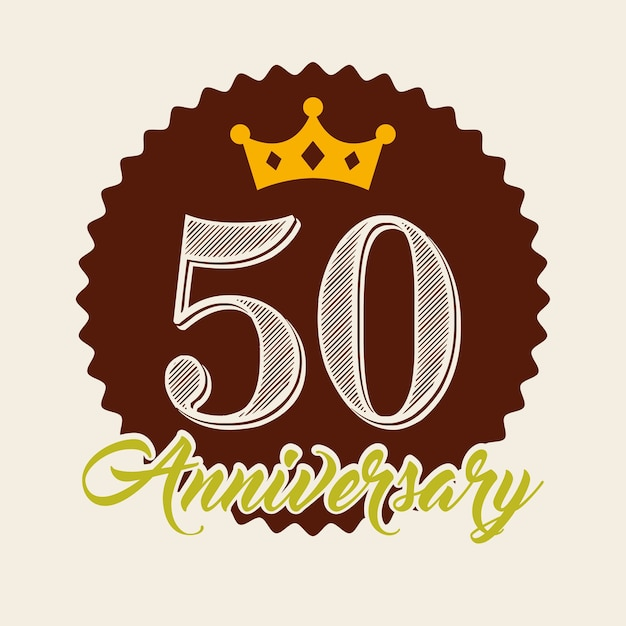 Happy anniversary design Premium Vector
