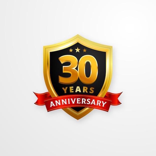 happy anniversary logo template vector premium download