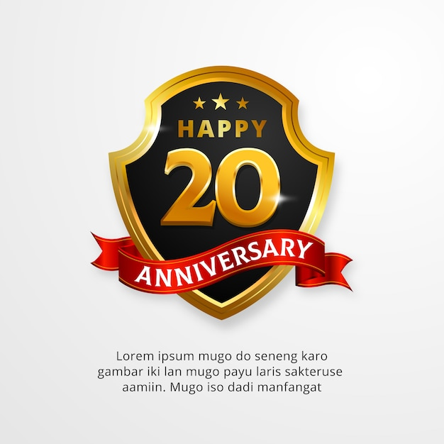 Happy anniversary shield logo vector premium download happy anniversary shield logo premium vector voltagebd Choice Image