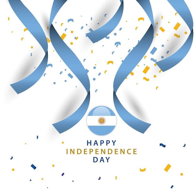 Happy argentina independent day vector template design Premium Vector