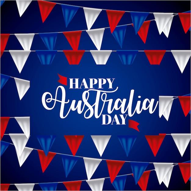 Happy australia day banner Free Vector