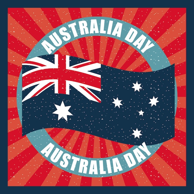 Happy australia day celebration Free Vector