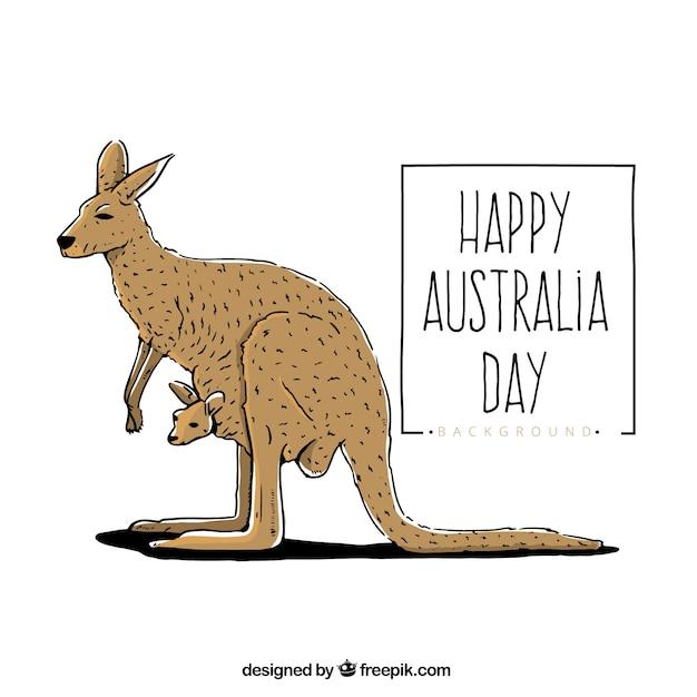 Q Significa Kangaroo Happy australia day wi...
