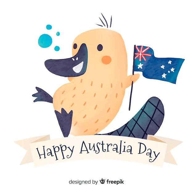 Felice giorno australia Vettore gratuito