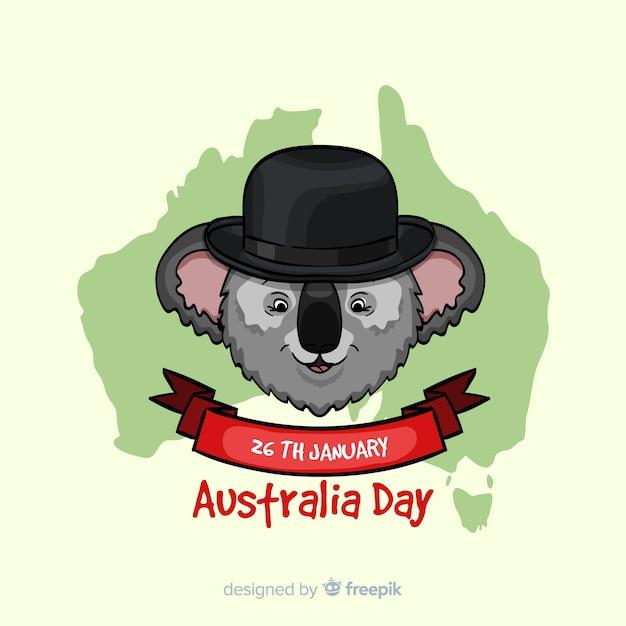 Happy australia day Free Vector