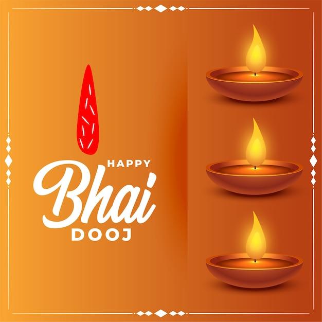 Открытка на традиционный фестиваль happy bhai dooj Бесплатные векторы