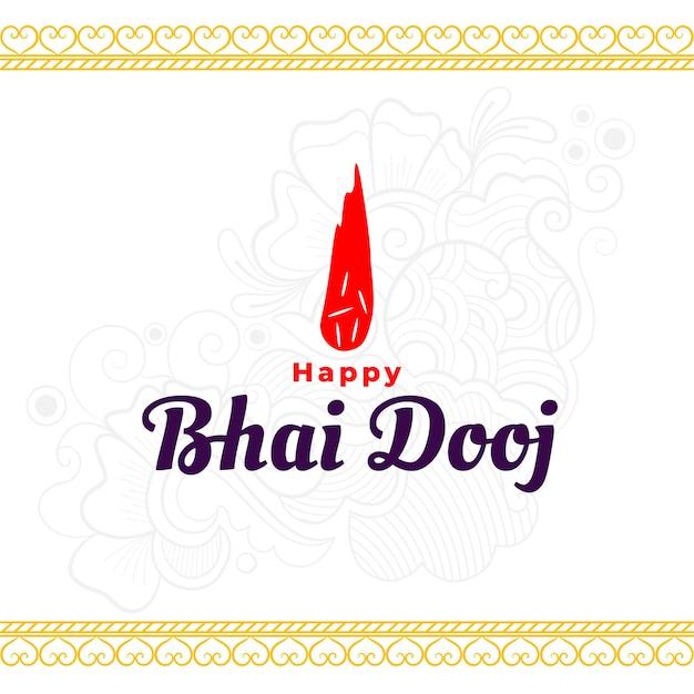 Happy bhai dooj traditoional indian background Free Vector