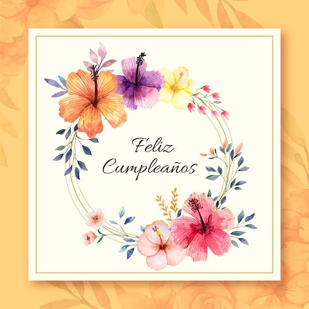 Concetto di carta anniversario di buon compleanno Vettore gratuito