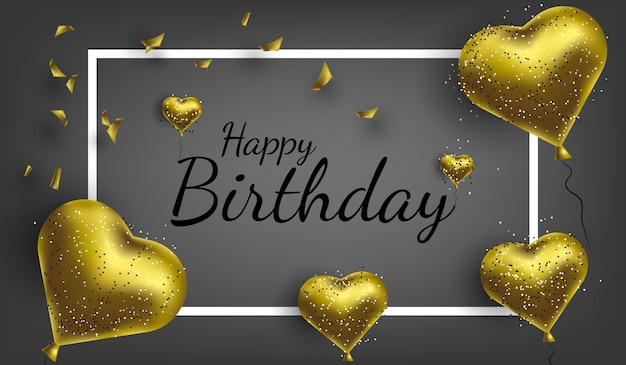 Happy birthday background banner Premium Vector