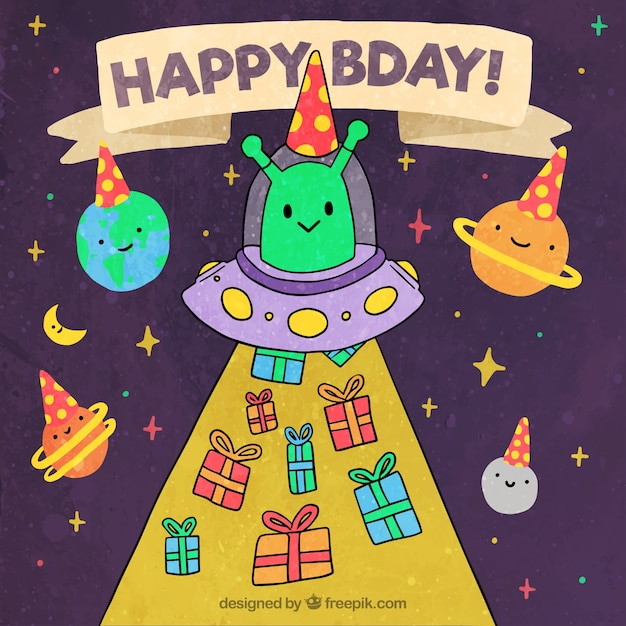 happy birthday background with space characters stock images page